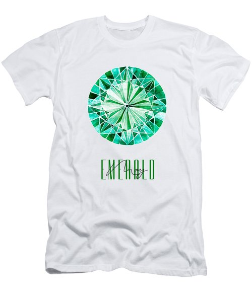 May Birthstone - Emerald Men's T-Shirt (Athletic Fit)