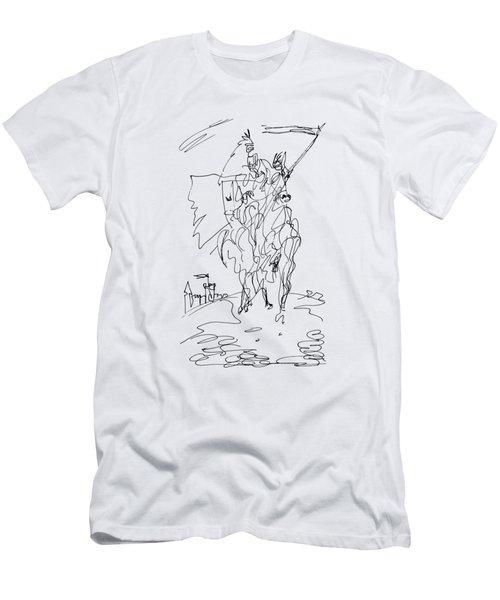 Medieval Rider Men's T-Shirt (Athletic Fit)
