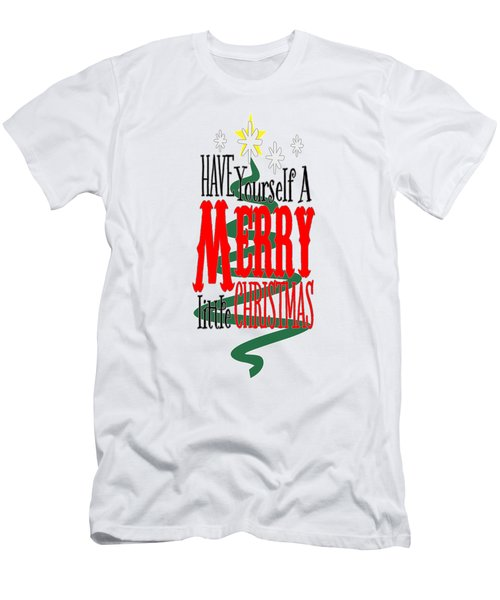 Merry Little Christmas Men's T-Shirt (Athletic Fit)