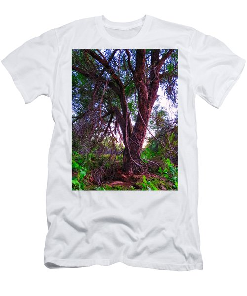 Men's T-Shirt (Athletic Fit) featuring the photograph Mesquite By The Wash by Judy Kennedy