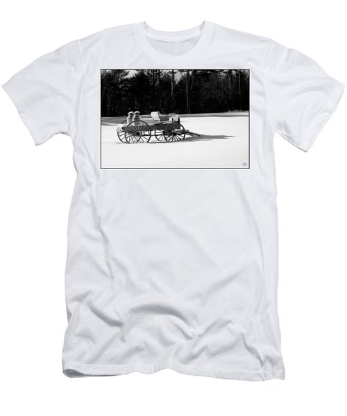 Men's T-Shirt (Athletic Fit) featuring the photograph Milk Wagon Monochrome by Wayne King