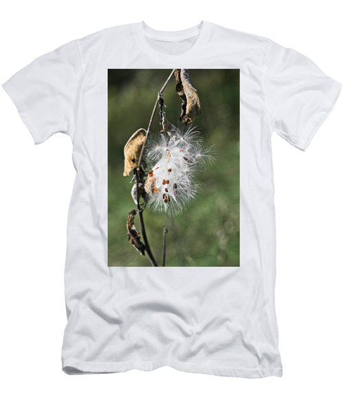 Men's T-Shirt (Athletic Fit) featuring the photograph Milkweed Explosion by Steven Ralser
