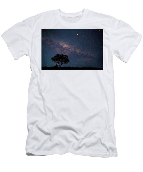 Milky Way Over Africa Men's T-Shirt (Athletic Fit)
