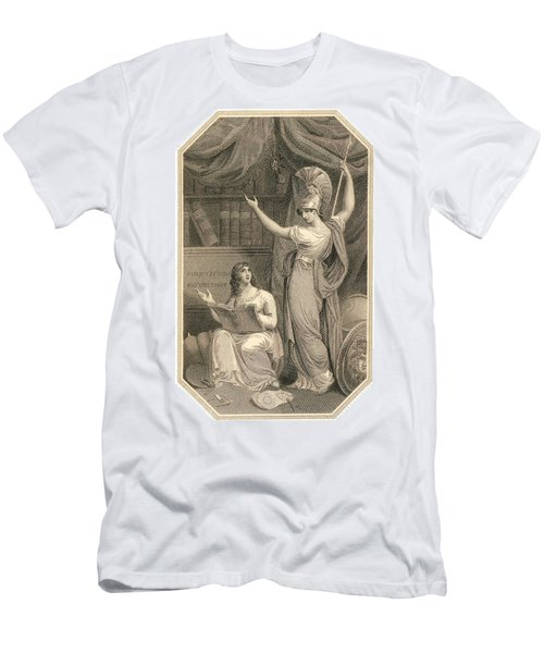 Minerva Directing Study To The  Attainment Of Universal Knowledge Men's T-Shirt (Athletic Fit)