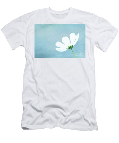 Minimalist White Cosmos Men's T-Shirt (Athletic Fit)