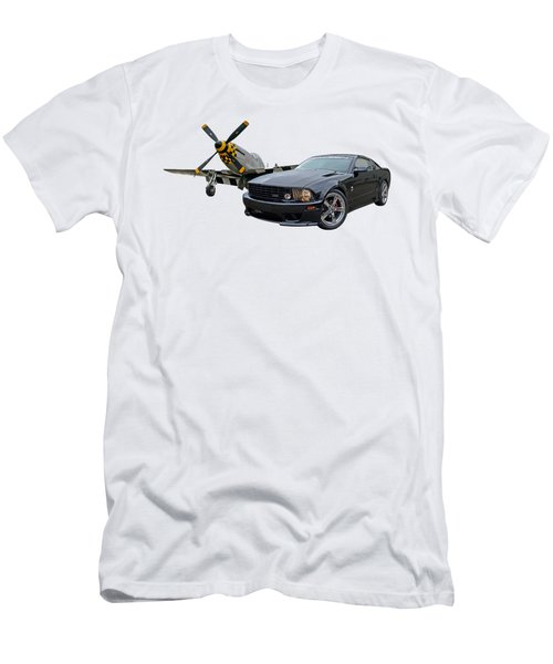 Mission Accomplished - P51 With Saleen Mustang Men's T-Shirt (Athletic Fit)