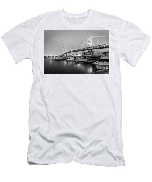 Monochrome Marina  Men's T-Shirt (Athletic Fit)