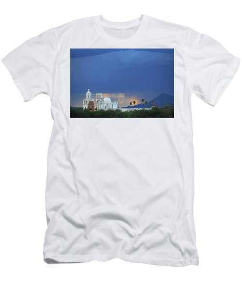 Monsoon Skies Over The Mission Men's T-Shirt (Athletic Fit)