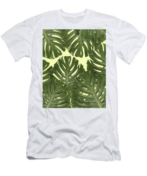 Monstera Leaf Pattern - Tropical Leaf Pattern - Green - Tropical, Botanical - Modern, Minimal Decor Men's T-Shirt (Athletic Fit)