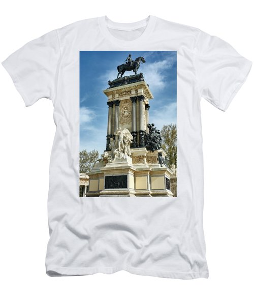 Monument To King Alfonso Xii At Retiro Park In Madrid, Spain Men's T-Shirt (Athletic Fit)