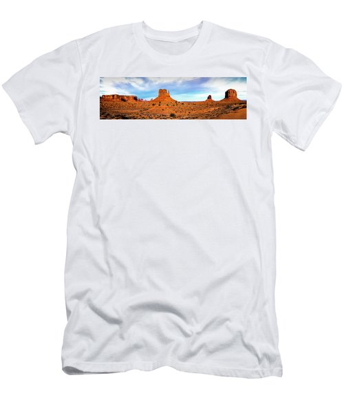 Men's T-Shirt (Athletic Fit) featuring the photograph Monument Valley by David Morefield
