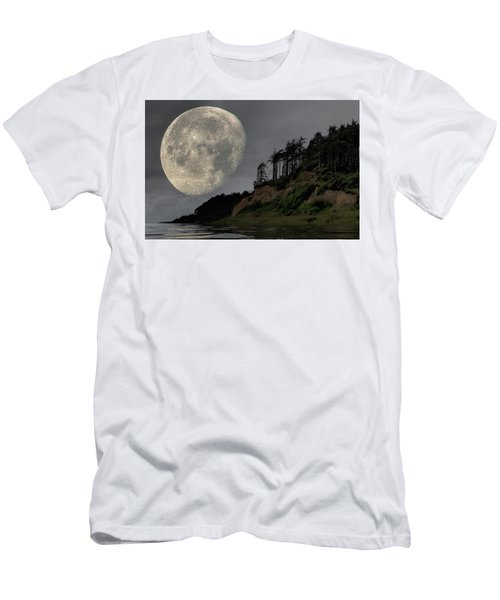 Moon And Beach Men's T-Shirt (Athletic Fit)