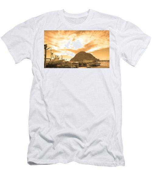 Morro Rock Sky Men's T-Shirt (Athletic Fit)