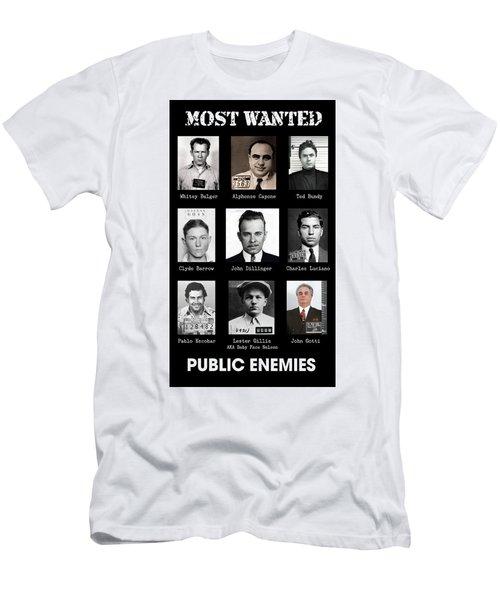 Most Wanted - Crime Public Enemies Men's T-Shirt (Athletic Fit)