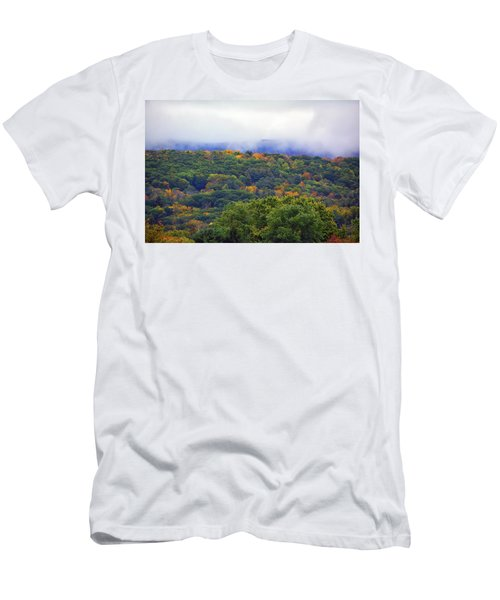 Men's T-Shirt (Athletic Fit) featuring the photograph Mount Greylock In The Clouds by Raymond Salani III