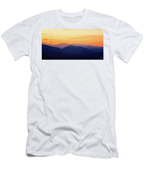 Mountain Light And Silhouette  Men's T-Shirt (Athletic Fit)