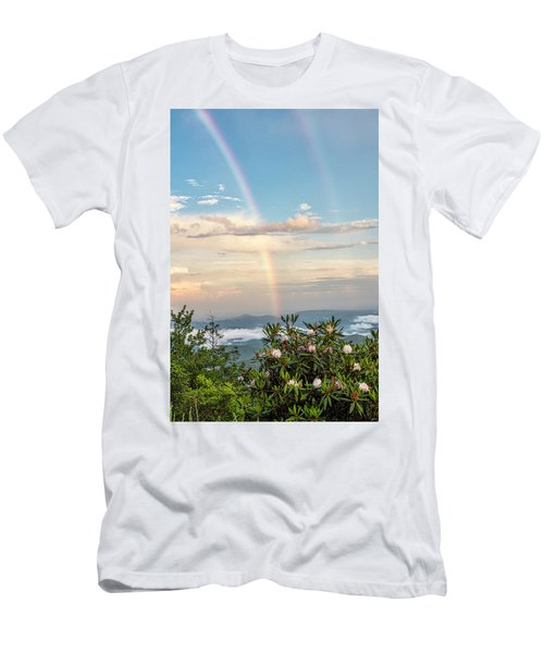 Men's T-Shirt (Athletic Fit) featuring the photograph Mountain Rainbow Vertical by Ken Barrett