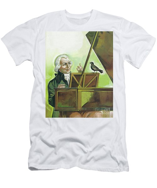 Mozart And The Starling Men's T-Shirt (Athletic Fit)