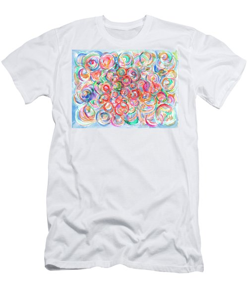 Multicolor Bubbles Men's T-Shirt (Athletic Fit)