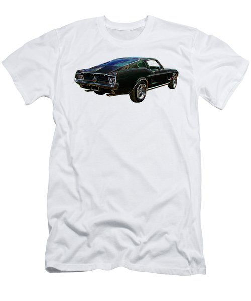Neon Mustang Fastback 1967 Men's T-Shirt (Athletic Fit)