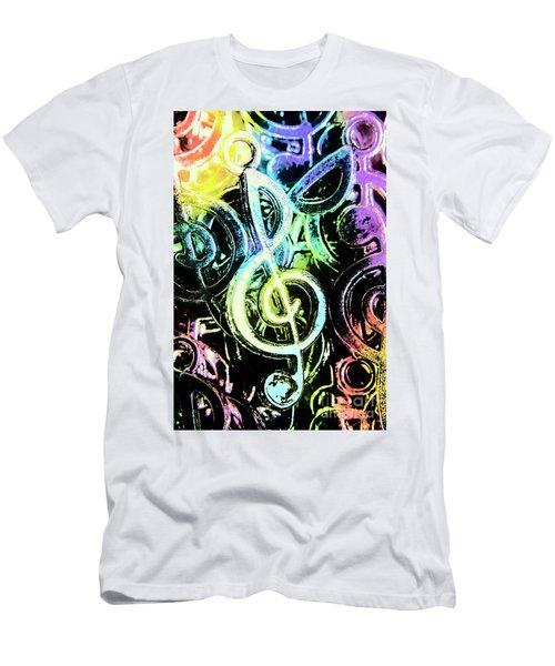 Neon Notes Men's T-Shirt (Athletic Fit)