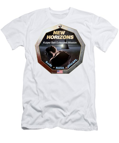 New Horizons Extended Mission Logo Men's T-Shirt (Athletic Fit)