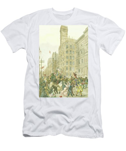 New Years Mummers On Chestnut Street Men's T-Shirt (Athletic Fit)