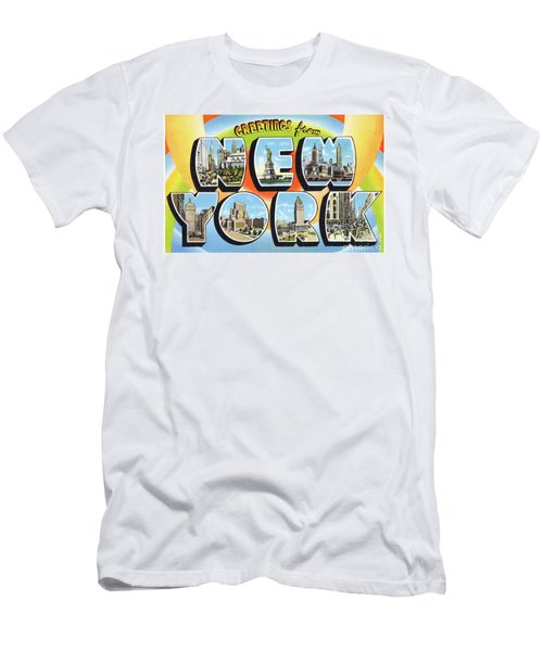 Men's T-Shirt (Athletic Fit) featuring the photograph New York Greetings - Version  3 by Mark Miller