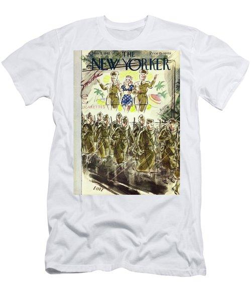 New Yorker November 7th 1942 Men's T-Shirt (Athletic Fit)