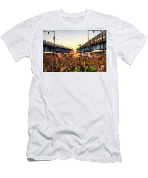 North Grand Island Bridges Men's T-Shirt (Athletic Fit)