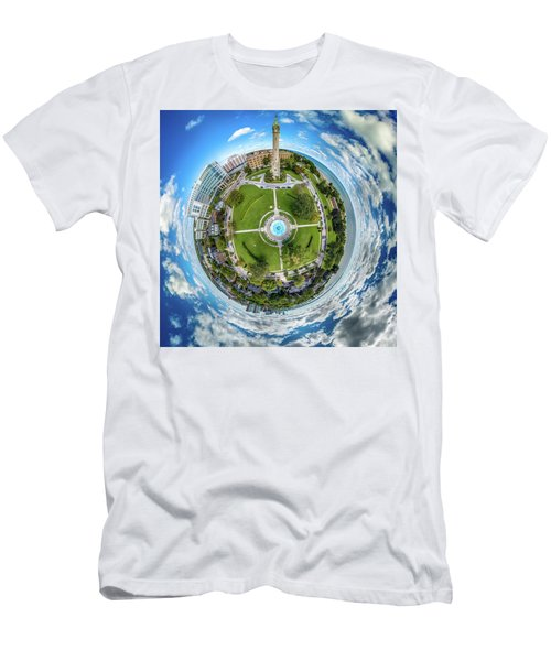 Men's T-Shirt (Athletic Fit) featuring the photograph Northpoint Water Tower Little Planet by Randy Scherkenbach