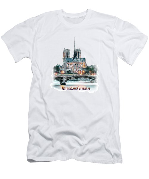 Notre Dame Cathedral In Paris. Men's T-Shirt (Athletic Fit)
