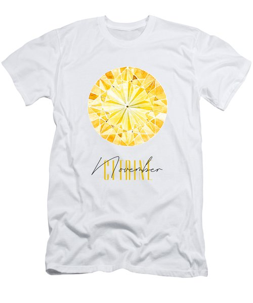 November Birthstone - Citrine Men's T-Shirt (Athletic Fit)