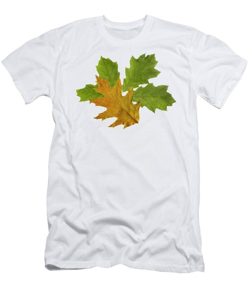 Oak Leaves Pattern Men's T-Shirt (Athletic Fit)