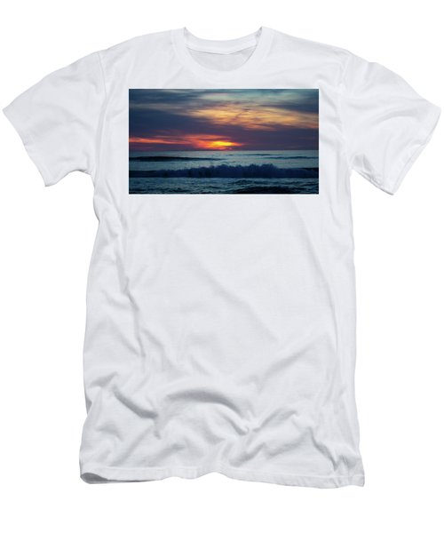 Men's T-Shirt (Athletic Fit) featuring the photograph Obx Sunrise by Lora J Wilson
