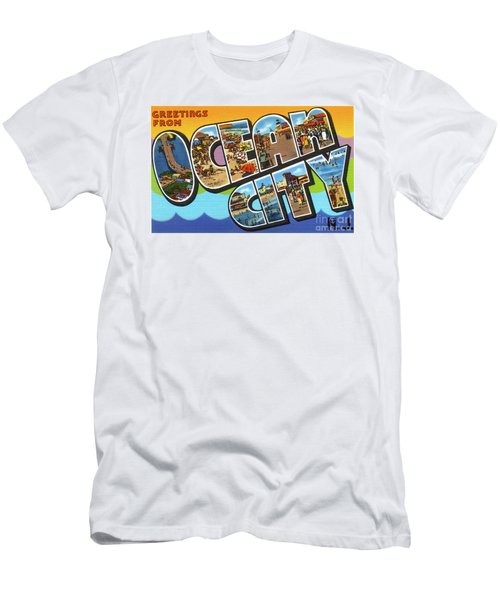 Men's T-Shirt (Athletic Fit) featuring the photograph Ocean City Greetings by Mark Miller