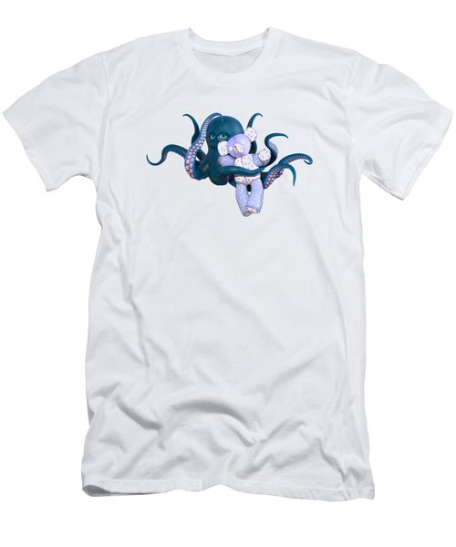 Octopus And Purple Bear Men's T-Shirt (Athletic Fit)