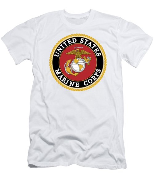 Official Marine Corp Logo - T-shirt Men's T-Shirt (Athletic Fit)