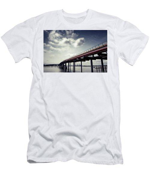 Oil Bridge Men's T-Shirt (Athletic Fit)