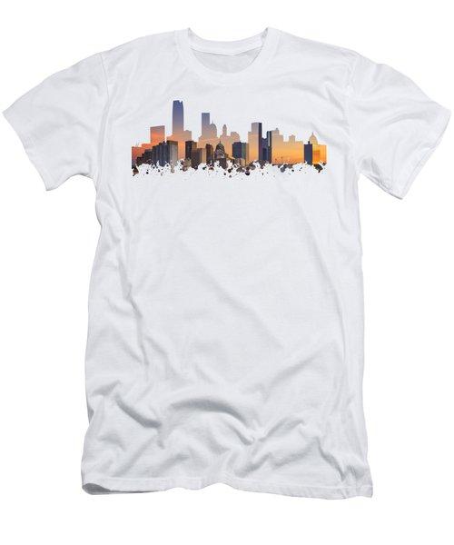 Okc Skyline Sunset Silhouette Men's T-Shirt (Athletic Fit)