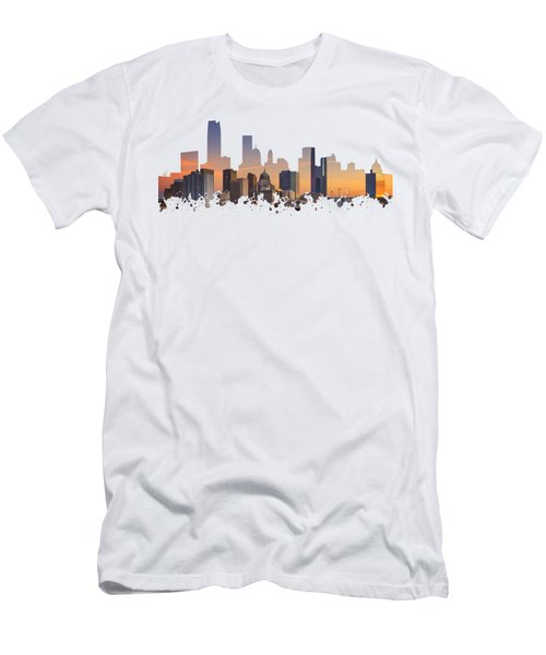 Okc Skyline Sunset Silhouette Men's T-Shirt (Athletic Fit)