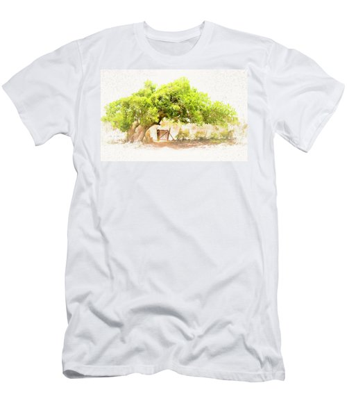 Old Leaning Tree At Sandy Hill  Anguilla Men's T-Shirt (Athletic Fit)