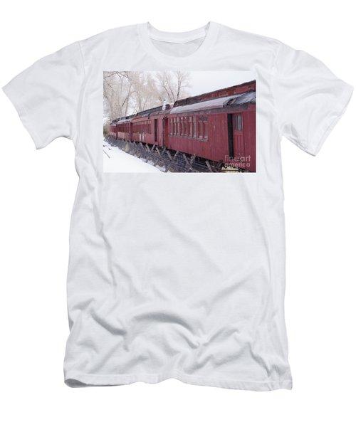 Old Passenger Cars Men's T-Shirt (Athletic Fit)