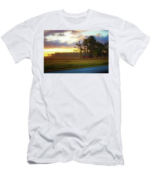 Men's T-Shirt (Athletic Fit) featuring the photograph Onc Open Road Sunrise by Cindy Lark Hartman