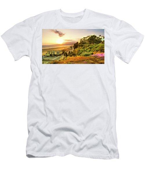 Orange Haze At Sunset Men's T-Shirt (Athletic Fit)