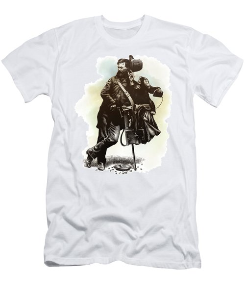 Men's T-Shirt (Athletic Fit) featuring the drawing Organ Grinder by Clint Hansen