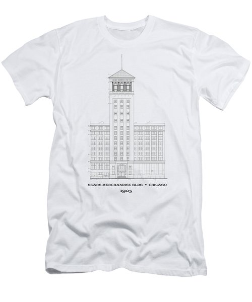 Original Sears Building And Tower - Chicago 1905 - T-shirt Men's T-Shirt (Athletic Fit)
