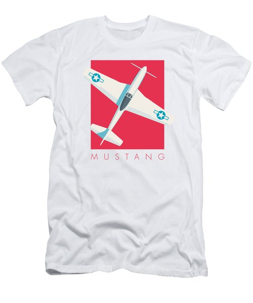 P51 Mustang Fighter Aircraft - Crimson Men's T-Shirt (Athletic Fit)