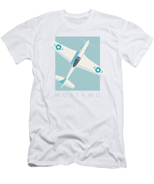 P51 Mustang Fighter Aircraft - Sky Men's T-Shirt (Athletic Fit)