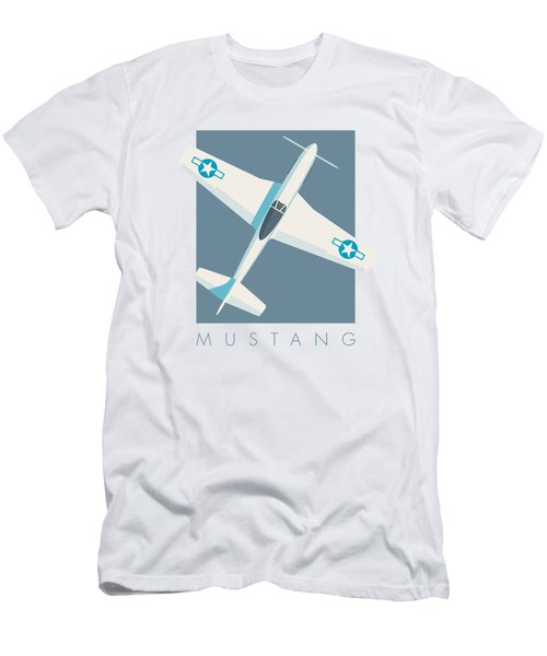 P51 Mustang Fighter Aircraft - Slate Men's T-Shirt (Athletic Fit)